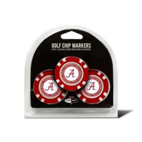 Team Golf Alabama Crimson Tide 3-pack Poker Chip Ball Markers