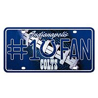 Indianapolis Colts #1 Fan Metal License Plate