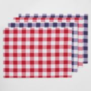 Americana BBQ 4-pc. Reversible Gingham Placemat Set