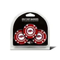 Team Golf Arkansas Razorbacks 3-pack Poker Chip Ball Markers