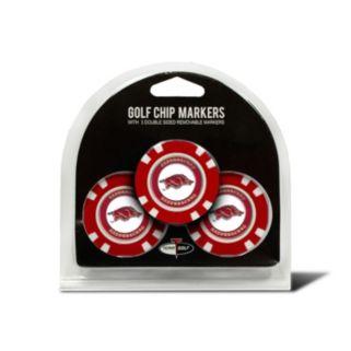 Team Golf Arkansas Razorbacks 3-pack Poker Chip Ball Markers