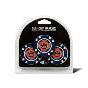 Team Golf Auburn Tigers 3-pack Poker Chip Ball Markers