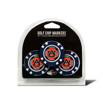Team Golf Auburn Tigers 3-pack Poker Chip Ball Markers