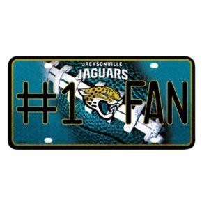Jacksonville Jaguars #1 Fan Metal License Plate