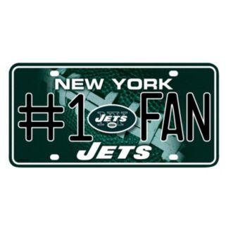 New York Jets #1 Fan Metal License Plate