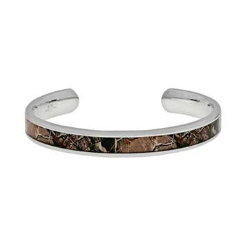 LYNX Stainless Steel Camouflage Cuff Bracelet - Men