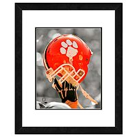 Clemson Tigers Team Helmet Framed 11