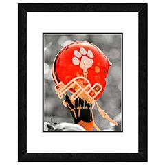 Clemson Tigers Team Helmet Framed 11' x 14' Photo