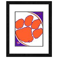 Clemson Tigers Team Logo Framed 11