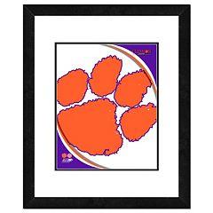 Clemson Tigers Team Logo Framed 11' x 14' Photo