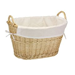 Household Essentials Willow Laundry Basket