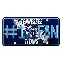 Tennessee Titans #1 Fan Metal License Plate