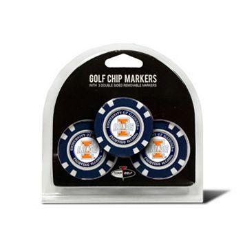 Team Golf Illinois Fighting Illini 3-pack Poker Chip Ball Markers