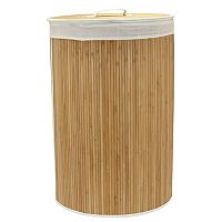 Household Essentials Round Bamboo Laundry Hamper