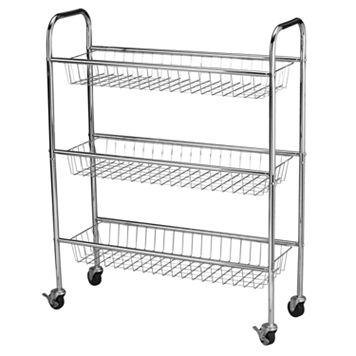 Household Essentials 3-Tier Utility Cart