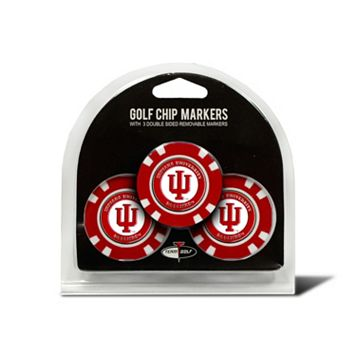 Team Golf Indiana Hoosiers 3-pack Poker Chip Ball Markers
