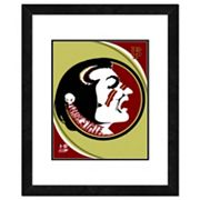 Florida State Seminoles Team Logo Framed 11' x 14' Photo