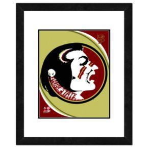 "Florida State Seminoles Team Logo Framed 11"" x 14"" Photo"