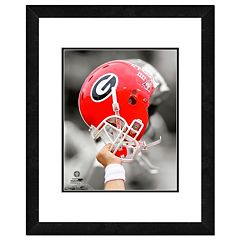 Georgia Bulldogs Team Helmet Framed 11' x 14' Photo