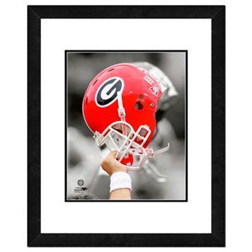 Georgia Bulldogs Team Helmet Framed 11