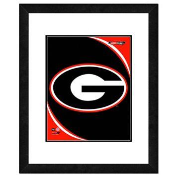 Georgia Bulldogs Team Logo Framed 11