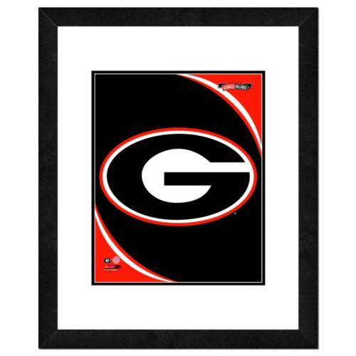 "Georgia Bulldogs Team Logo Framed 11"" x 14"" Photo"