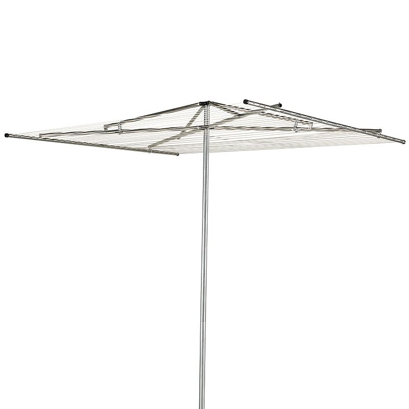 Household Essentials Outdoor Parallel Garment Drying Rack, Adult Unisex, Size: DRY RACK, Silver Extend the life of delicate sweaters, shirts and more with this parallel drying rack from Household Essentials. In silver.FEATURES 84''H x 72''W x 72''D 210' of drying space 30 steel drying lines Pivoting flat-top design Folding frame for compact storage Rust-resistant center post Pre-strung & ready to install CONSTRUCTION & CARE Aluminum/steel/plastic Wipe clean Manufacturer's 1-year limited warrantyFor warranty information please click here  Size: DRY RACK. Gender: unisex. Age Group: adult. Material: Metal.