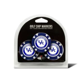 Team Golf Kentucky Wildcats 3-pack Poker Chip Ball Markers