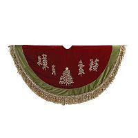 Kurt Adler Ribbon Trees 50-in. Tassel Christmas Tree Skirt