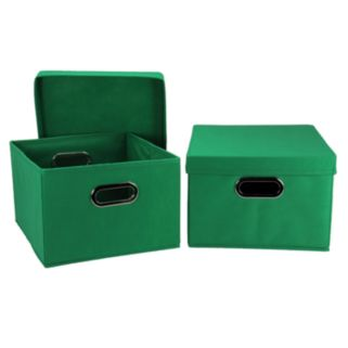 Household Essentials 2-pk. Black Handle Collapsible Storage Bins