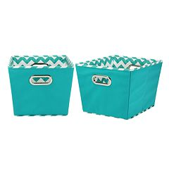 Household Essentials Chevron 2 pkCollapsible Storage Bins - Small