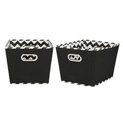 Household Essentials Chevron 2-pk. Collapsible Storage Bins - Small