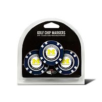 Team Golf Michigan Wolverines 3-pack Poker Chip Ball Markers