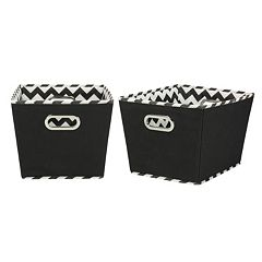Household Essentials Chevron 2-pk. Collapsible Storage Bins - Medium
