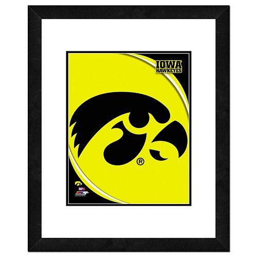 Iowa Hawkeyes Team Logo Framed 11