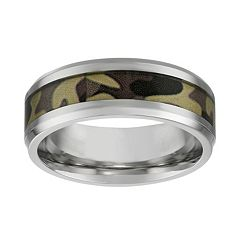 LYNX Stainless Steel Camouflage Band - Men