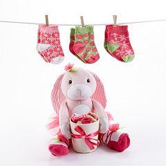 Baby Aspen Plush Bunny & Socks Set - Baby