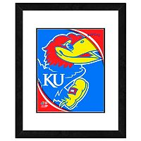 Kansas Jayhawks Team Logo Framed 11