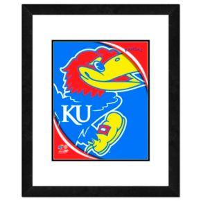 """Kansas Jayhawks Team Logo Framed 11"""" x 14"""" Photo"""