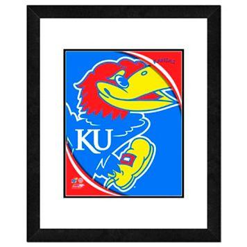 Kansas Jayhawks Team Logo Framed 11