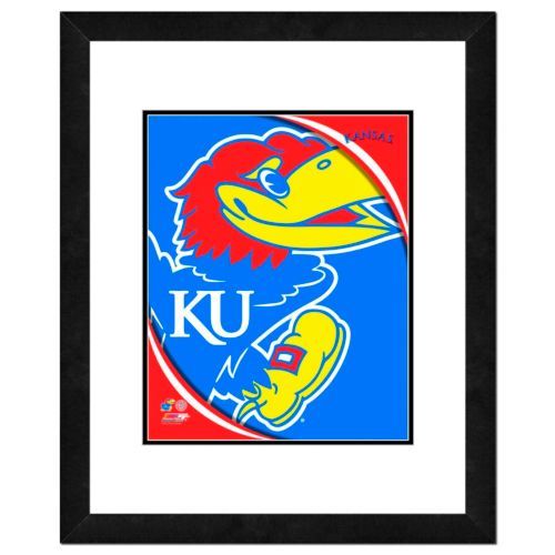 "Kansas Jayhawks Team Logo Framed 11"" x 14"" Photo"