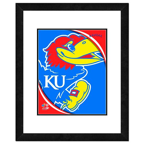 Kansas Jayhawks Team Logo Framed 11 x 14 Photo