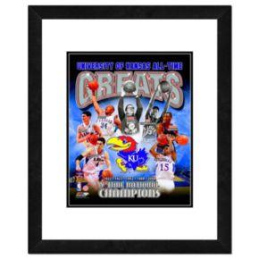 "Kansas Jayhawks All-Time Greats Framed 11"" x 14"" Photo"