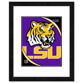 "LSU Tigers Team Logo Framed 11"" x 14"" Photo"