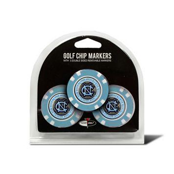 Team Golf North Carolina Tar Heels 3-pack Poker Chip Ball Markers