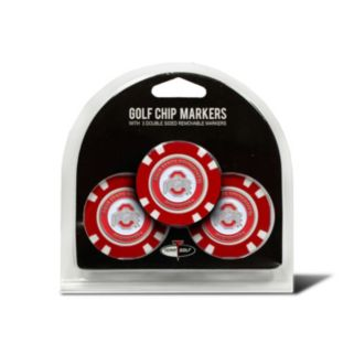 Team Golf Ohio State Buckeyes 3-pack Poker Chip Ball Markers