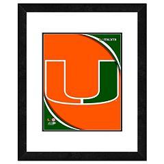 Miami Hurricanes Team Logo Framed 11' x 14' Photo