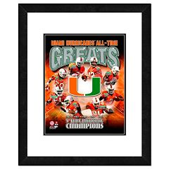 Miami Hurricanes All-Time Greats Framed 11' x 14' Photo