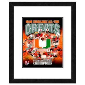 """Miami Hurricanes All-Time Greats Framed 11"""" x 14"""" Photo"""