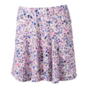 Candie's® Floral Knit Skater Skirt - Juniors
